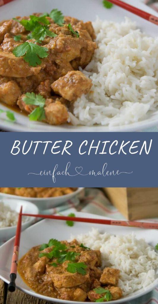 Das leckere Rezept für Butter Chicken ist wirklich ganz einfach zu kochen und schmeckt sehr sehr lecker. Über Nacht mariniert, schmeckt das Fleisch besonders würzig und super zart. Dazu passen Basmati Reis, Koriander und Joghurt.