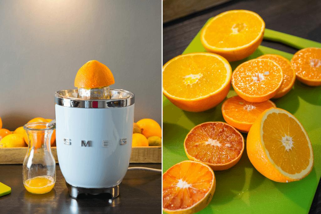 So einfach gelingt dir frisch gepresster Orangensaft mit der Smeg Saftpresse