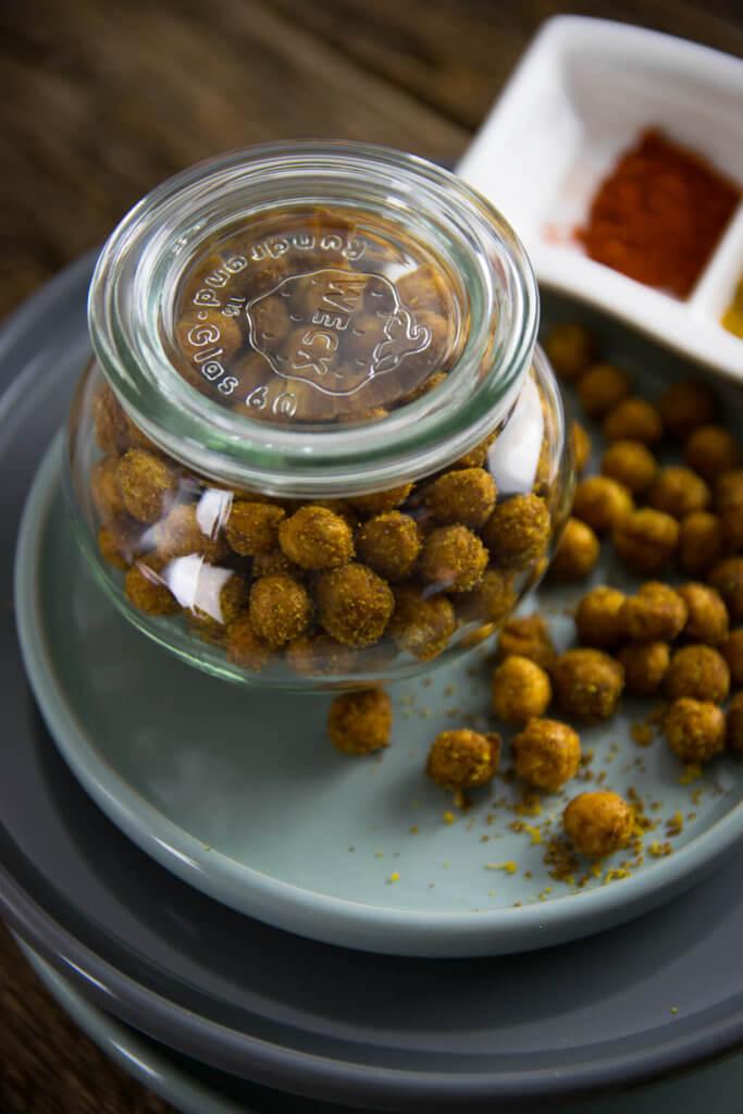 Günstig und gesund snacken - geröstete Kichererbsen aus der Heißluftfritteuse