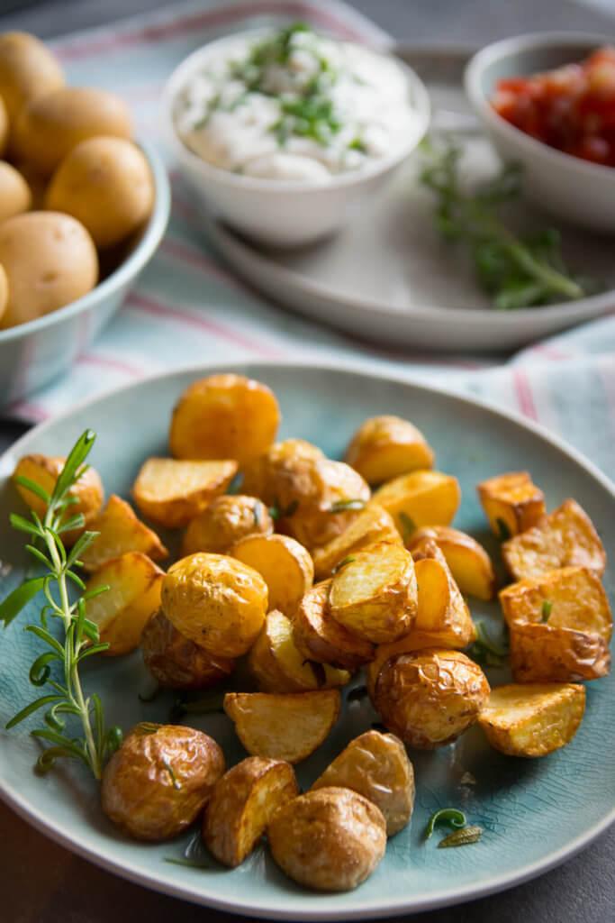 Rezept für Rosmarinkartoffeln aus der Heißluftfritteuse