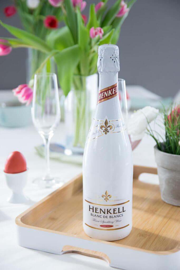 Henkell Blanc de Blancs für das Osterfrühstück