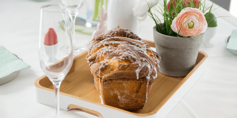 Der perfekte Zimt Hefezopf zum Oster Sekt Frühstück