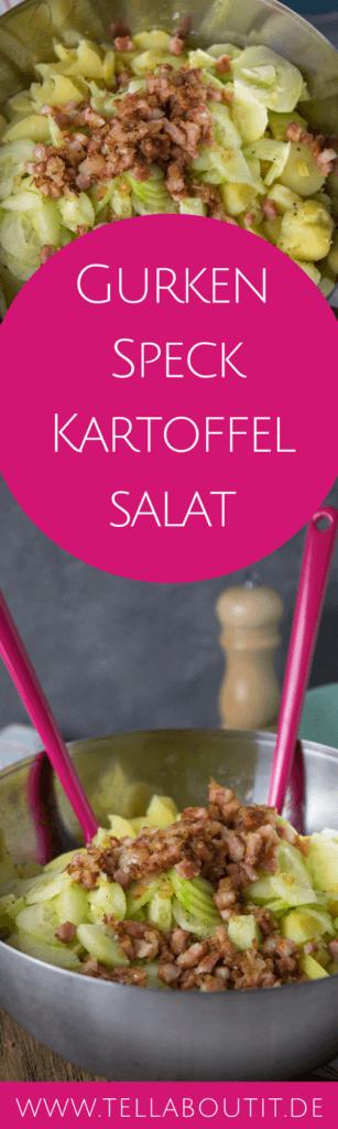Ein Kartoffelsalat der erfrischt, denn dieser Kartoffelsalat wird mit frischer Salatgurke zubereitet und und schmeckt absolut lecker. Der Gurken Speck Kartoffelsalat ist die perfekte Beilage zu Grillen und das Rezept ganz einfach zuzubereiten. Dieser Gurken Speck Kartoffelsalat ist definitiv zum Verlieben.