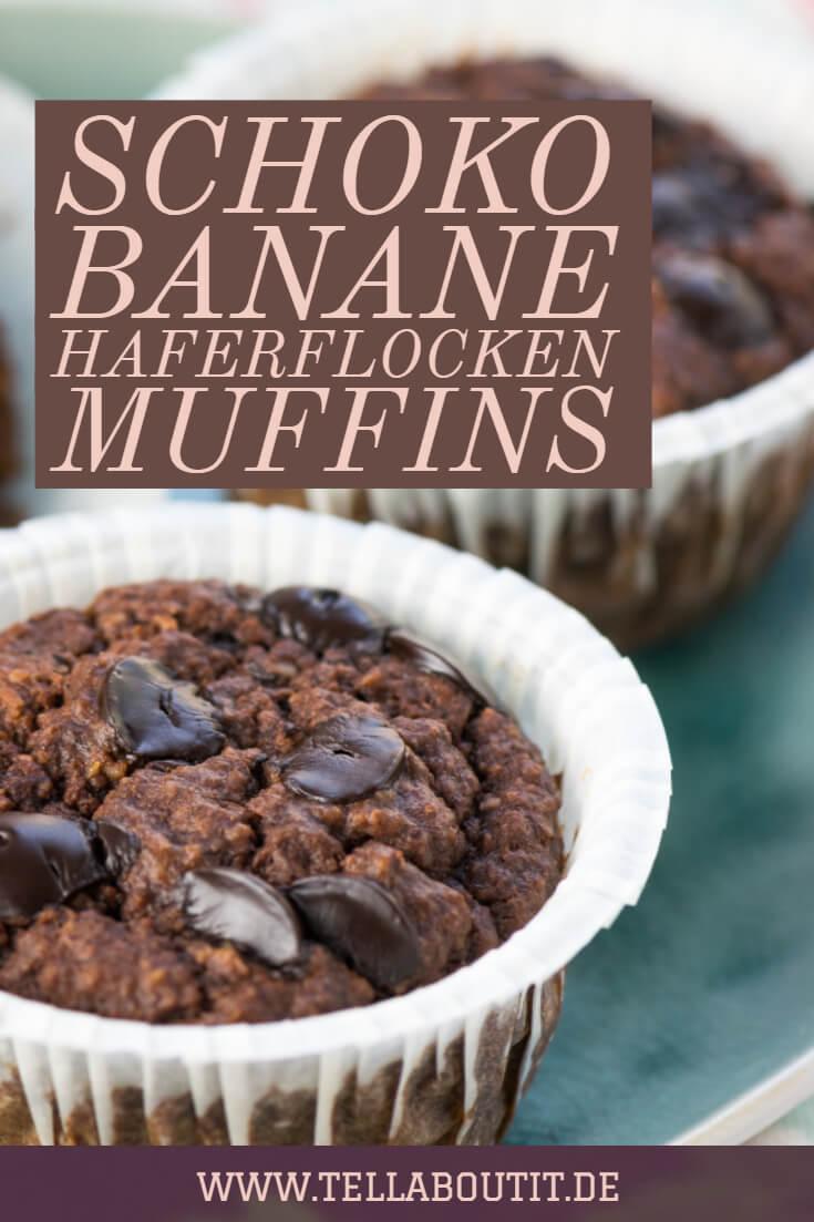 Schoko Banane Haferflocken Muffins Fruhstucksmuffins Ohne Zucker