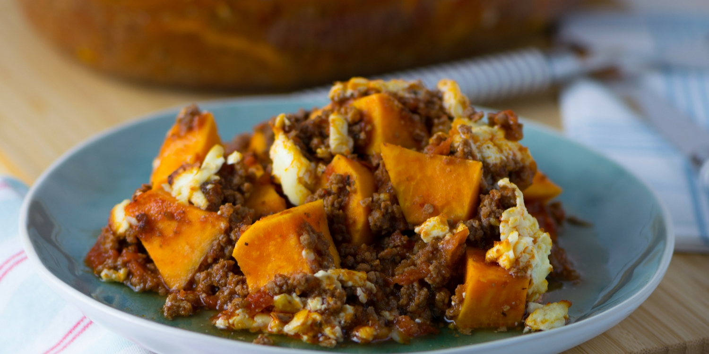 Süßkartoffel Hackfleisch Auflauf