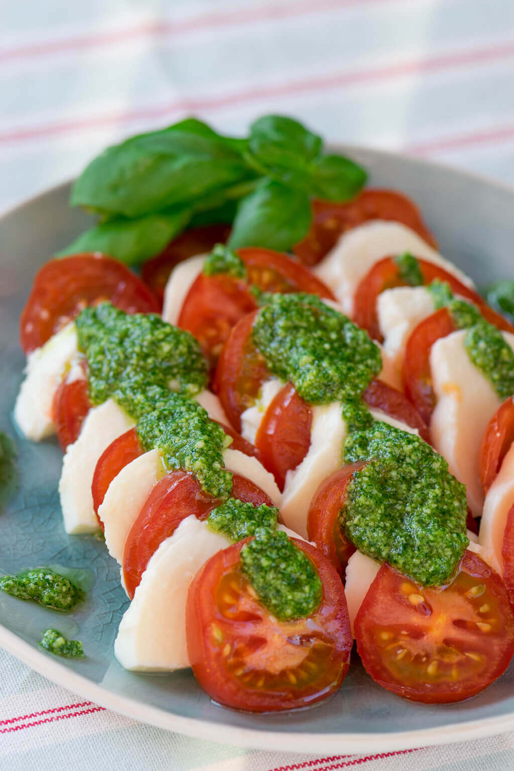 tomate mozzarella salat so einfach machst du basilikum pesto selber. Black Bedroom Furniture Sets. Home Design Ideas