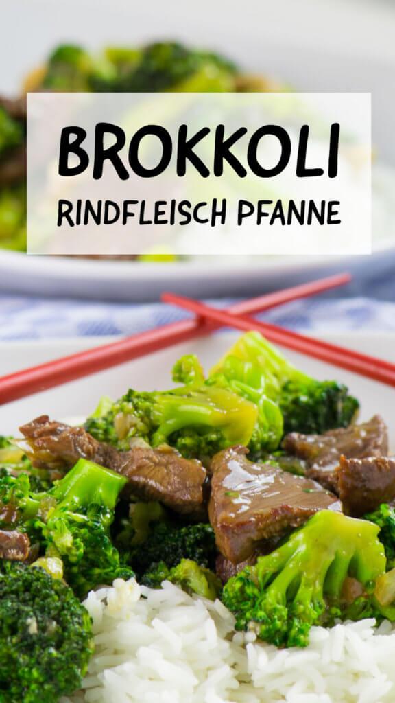 Brokkoli Rindfleisch Pfanne Asiastyle
