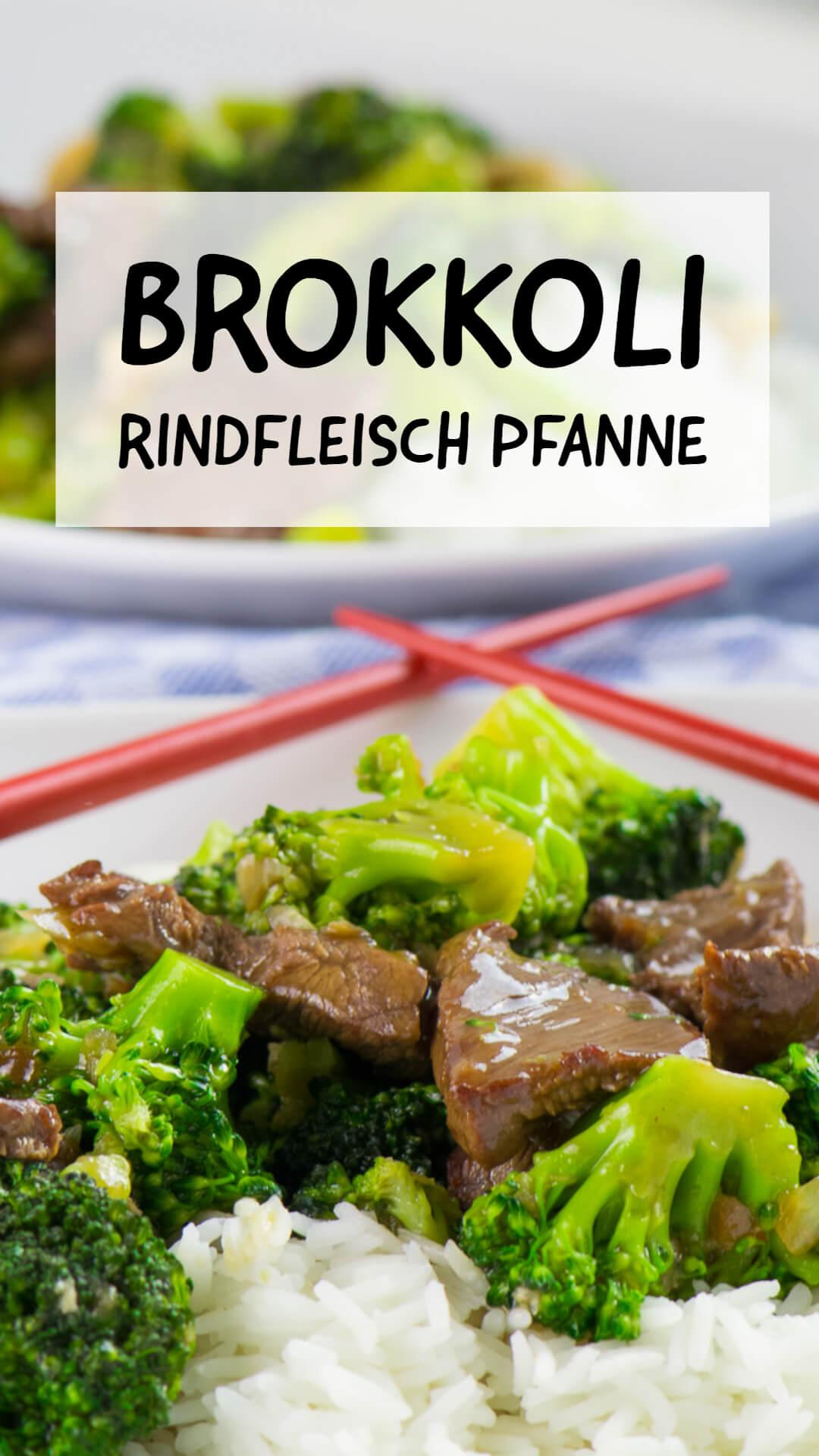 Brokkoli Rindfleisch Pfanne mit Cashewnüssen Asiastyle