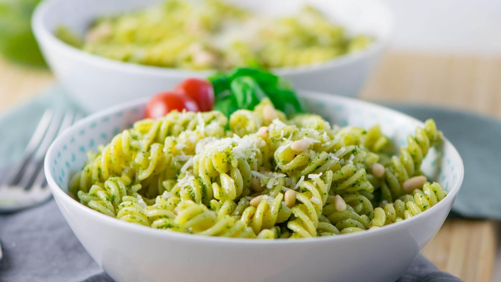 Basilikum Pesto Pasta