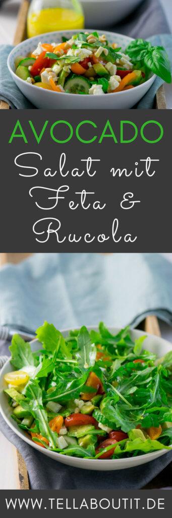Dieser schnell gemachte Salat ist echtes Power Food. Denn er ist gesund & lecker und der Avocado Feta Salat mit Rucola macht satt und schmeckt absolut köstlich. Du brauchst weder viele Zutaten, noch viel Zeit für die Zubereitung. Probiere das Rezept am liebsten direkt aus und überzeuge dich selbst.