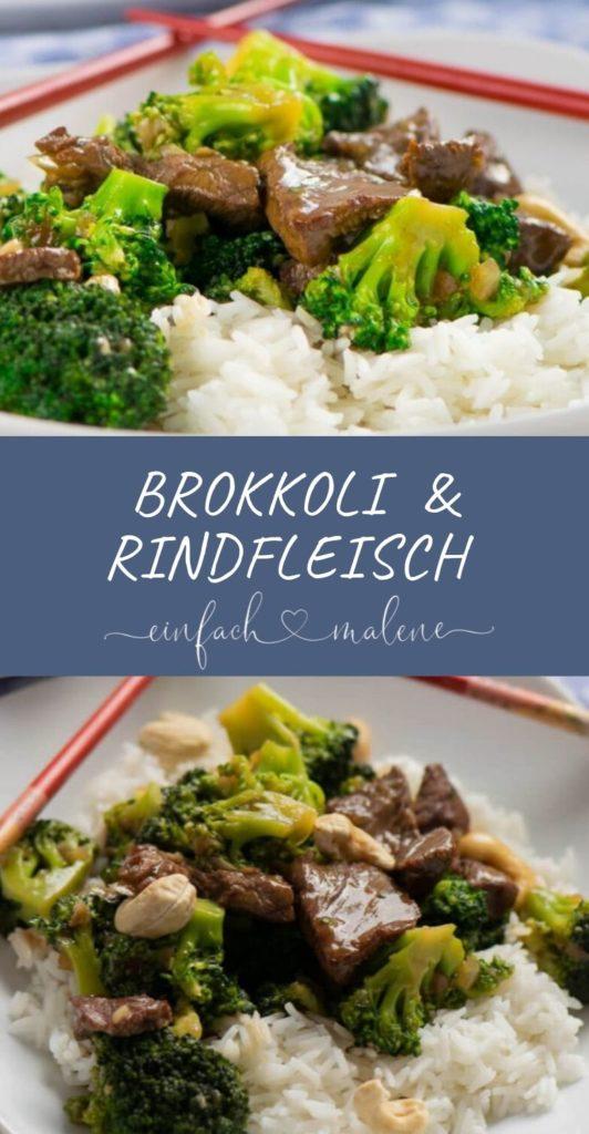 Wenige Zutaten und viel Geschmack stecken in dieser Brokkoli Rindfleisch Pfanne mit Cashewnüssen. Leckeres Rezept mit Sojasauce, Rindfleisch und Brokkoli.