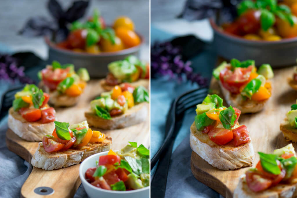 Mega lecker - Avocado Tomaten Bruschetta