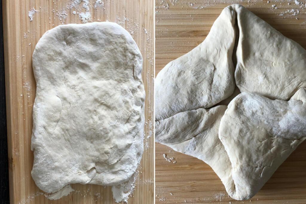So faltest du den Baguette Teig mit Weizenmehl