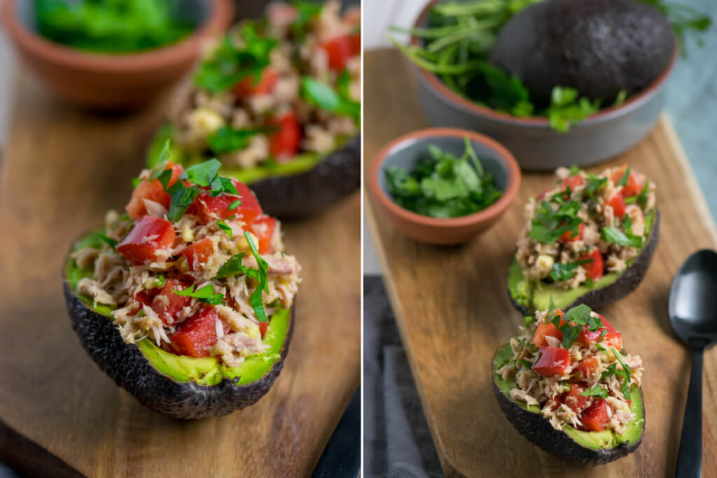 Avocado Thunfisch Salat low carb