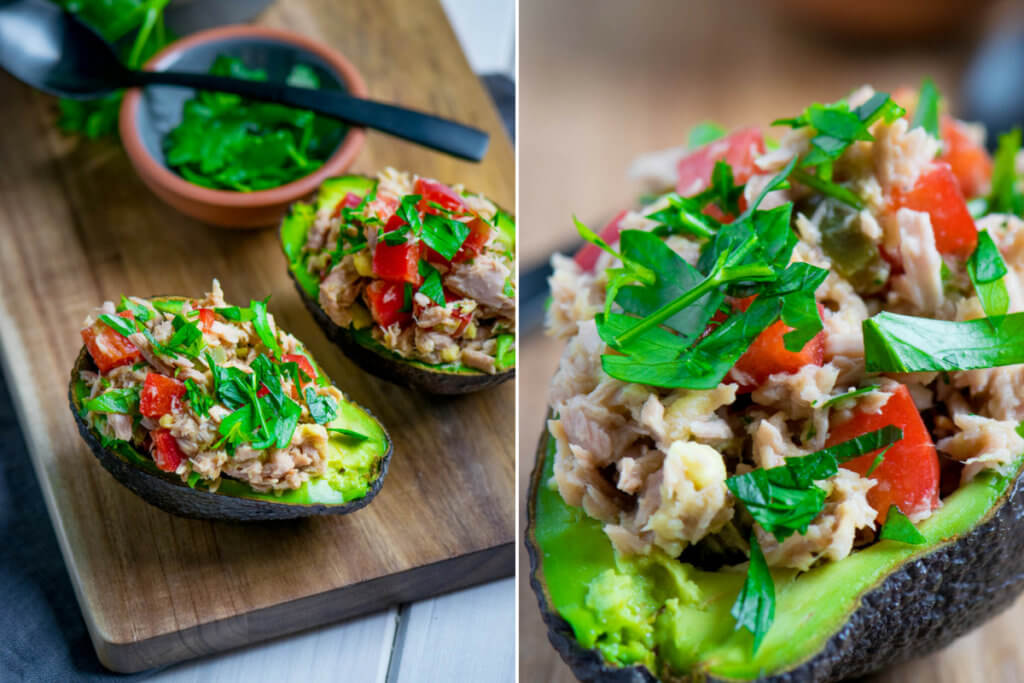 Schnell gemacht und sehr sehr lecker - Gefüllte Avocados mit Thunfischsalat