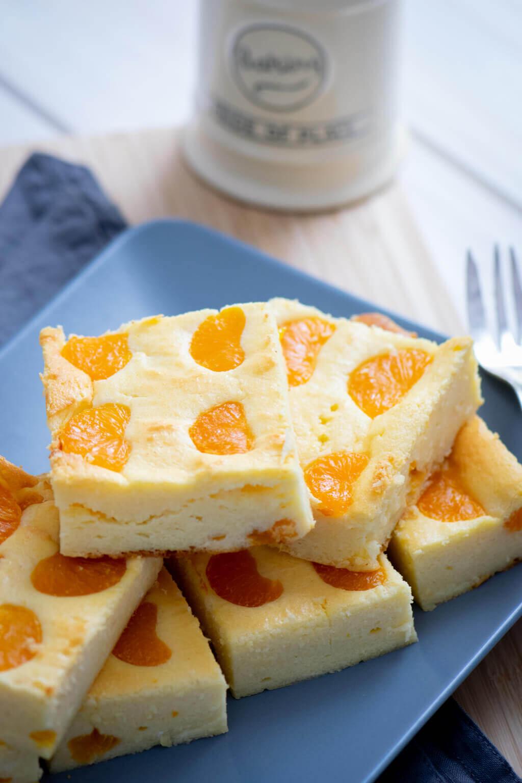 Quark Kasekuchen Mit Mandarinen Ein Echter Klassiker Ohne Boden