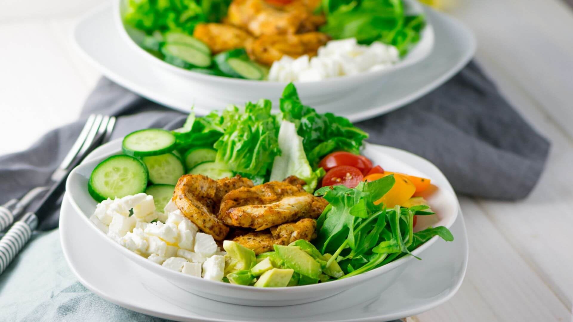 Leckerer Grilled Chicken Salat