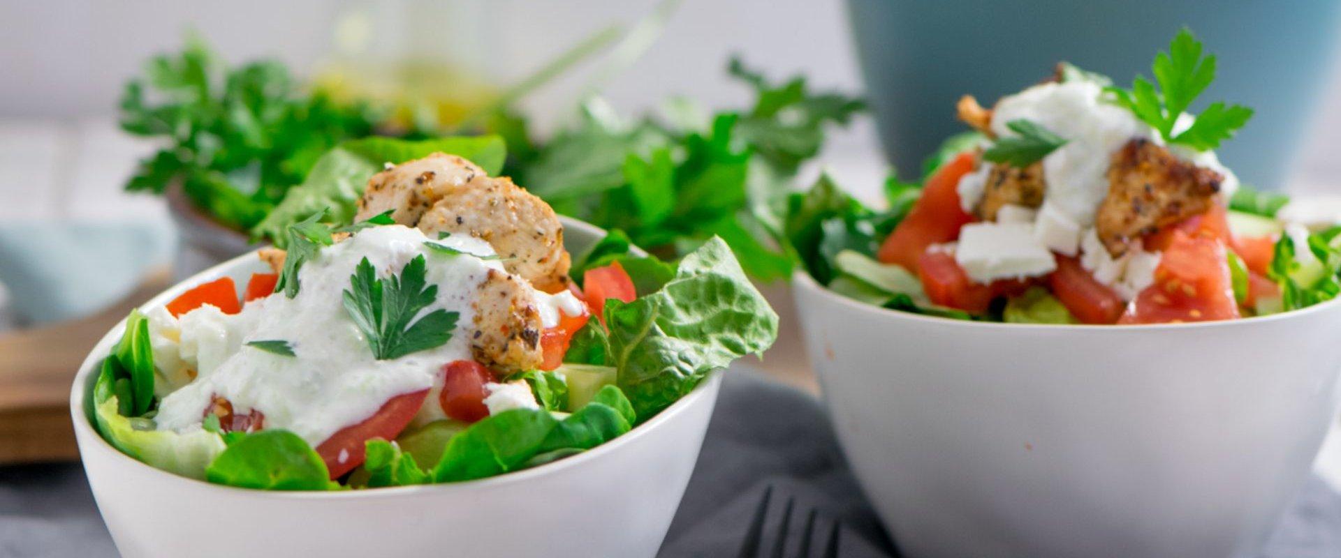 Erfrischender Gyros Salat - Sommerlicher Salat für heiße Tage