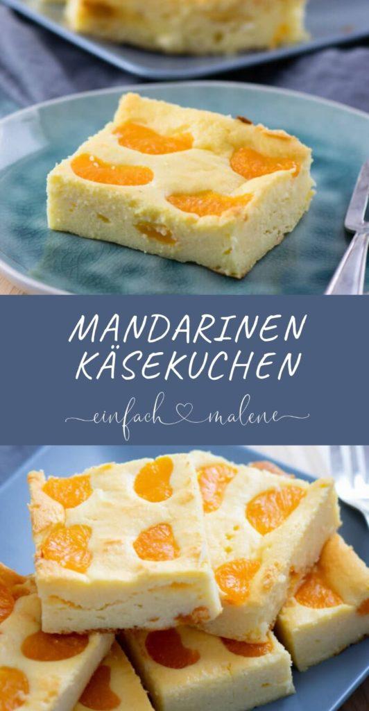 Käsekuchen ist nicht nur ein sehr günstiger Kuchen, er ist auch super einfach zu backen. Der kleine Quark Käsekuchen mit Mandarinen ist ohne Boden gebacken. #rezept #kuchen #mandarinen #käsekuchen #quark