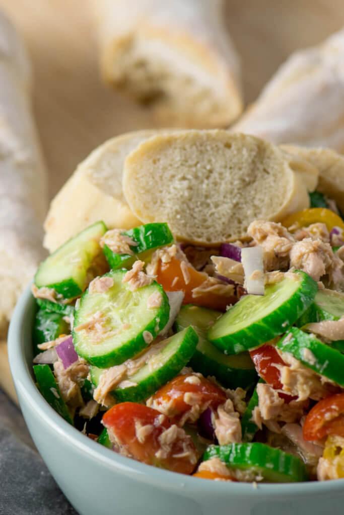 Schneller Thunfisch Salat mit Honig Senf Dressing #salat #thunfisch