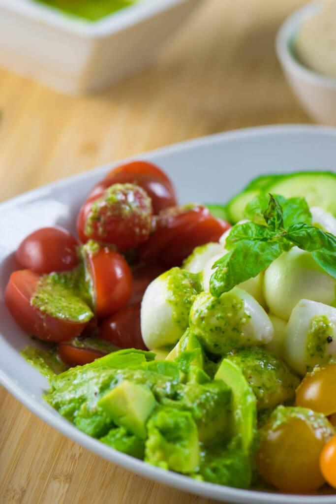 Leckerer Salat - auch perfekt für heiße Tage