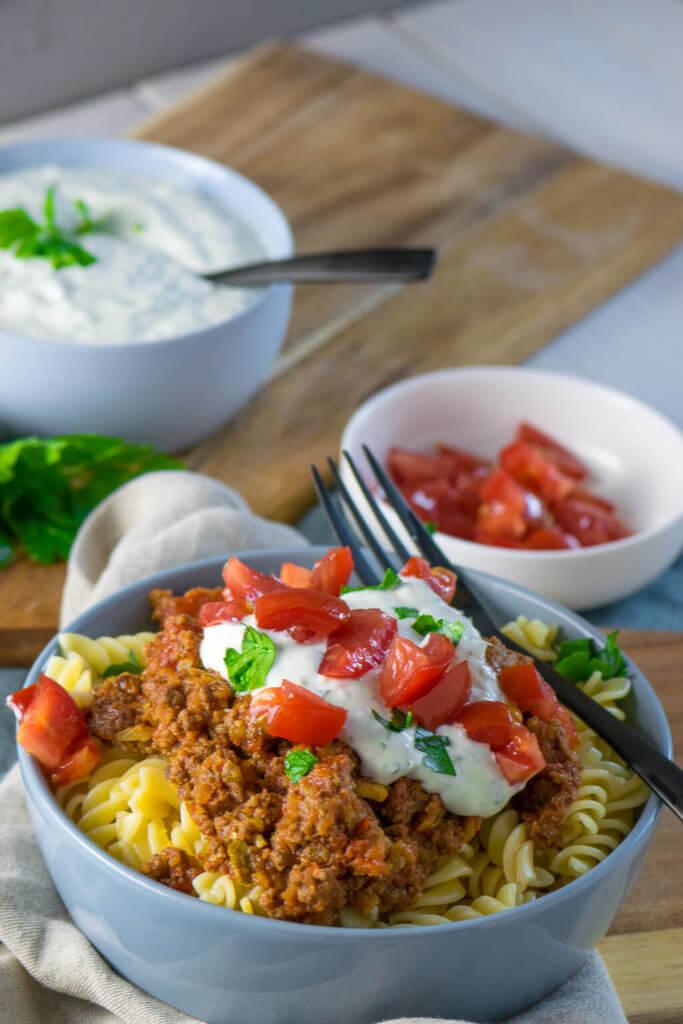 Irre lecker und einfach gekocht - Türkische Hackfleisch Pasta