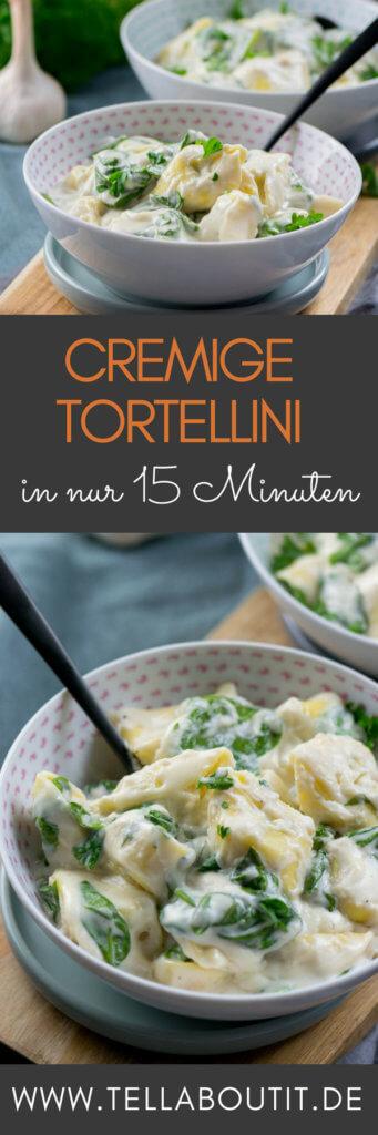 Spinat Tortellini in Parmesan Käse Sauce in nur 15 Minuten - So lecker und so schneller auf dem Teller! Diese Spinat Tortellini werden mit der Parmesan Käse Sauce serviert und sind ein echter Geheimtipp! Tell About It Foodblog