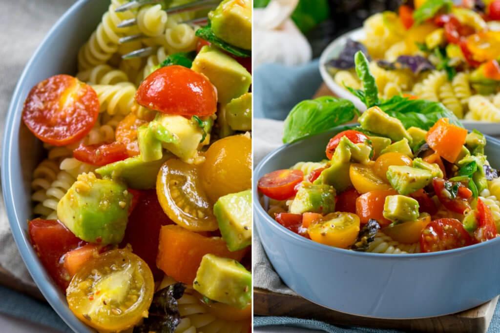 Köstliche Avocado Tomaten Pasta