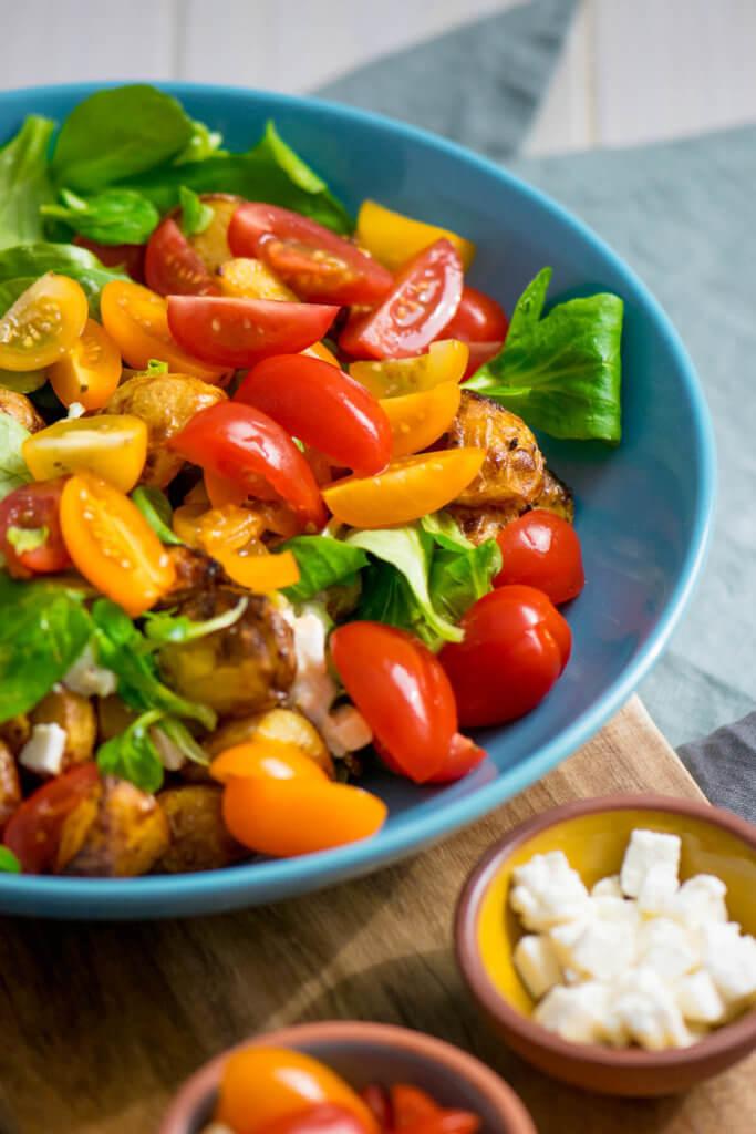 Röstkartoffel Salat mit Honig Senf Marinade #airfryer #rezept #kartoffelrezept