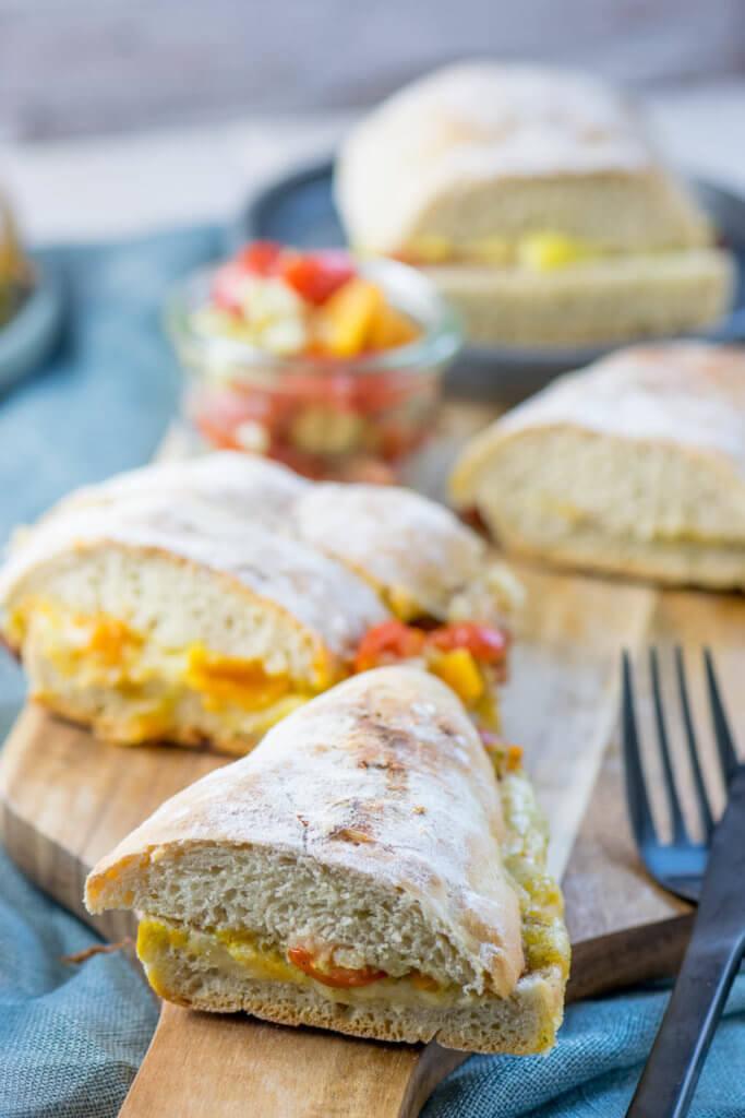 Leckere Tomate Mozzarella Panini