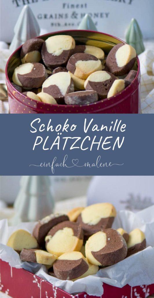 Zartes Buttergebäck - Schoko-Vanille Plätzchen. Ein wunderbar einfaches Rezept für leckere Schoko-Vanille Plätzchen. Ein Klassiker in der Weihnachtszeit, perfekt für jedes Alter und gut vorbereiten.