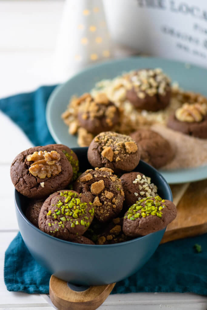 Schoko-Zimt Busserl oder auch Christmas Brownie Cookies
