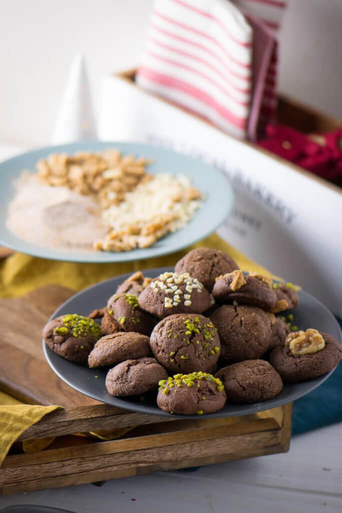 Schoko Brownie Kekse - perfekt zu Weihnachten