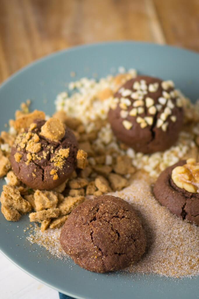 Such dir dein Topping für die Christmas Brownie Cookies einfach selbst aus