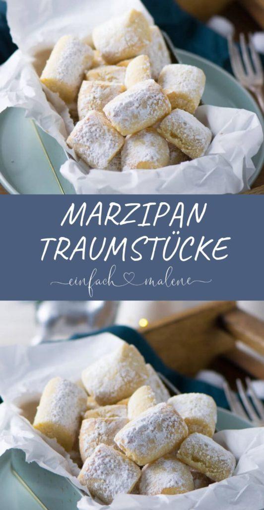 Diese Marzipan Traumstücke machen süchtig - zartschmelzend & so lecker. Sehen aus wie Traumstücke, sind Traumstücke, schmecken aber nach Marzipan. Super lecker und noch genialer genialer als die klassischen Traumstücke.