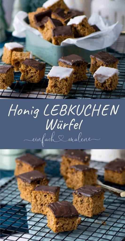 Saftige Honig Lebkuchen Würfel - Super lecker, aber mega einfach zu backen. Kaum zu glauben wie einfach diese Honig Lebkuchen Würfel sich zubereiten lassen. Die Lebkuchen mit Schokolade schmecken wir aus dem Supermarkt, aber besser!