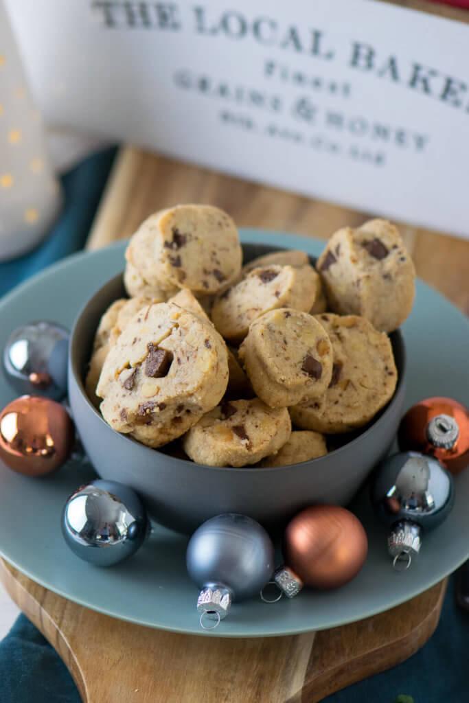 Leckere Weihnachtskekse - Schokoladen Walnuss Taler