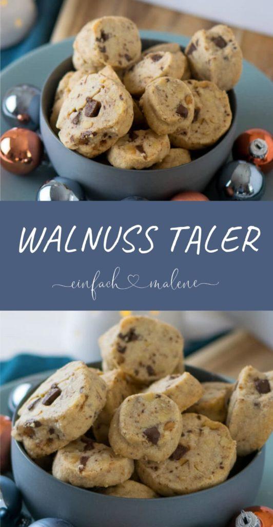 Walnüsse, Schokolade und kleine Salzkristalle machen diese Schokoladen Walnuss Taler zu einem Weihnachtsliebling. Unglaublich lecker & super easy zu backen. Die Walnuss Taler sind schnell gemacht - tolles Rezept für Weihnachten