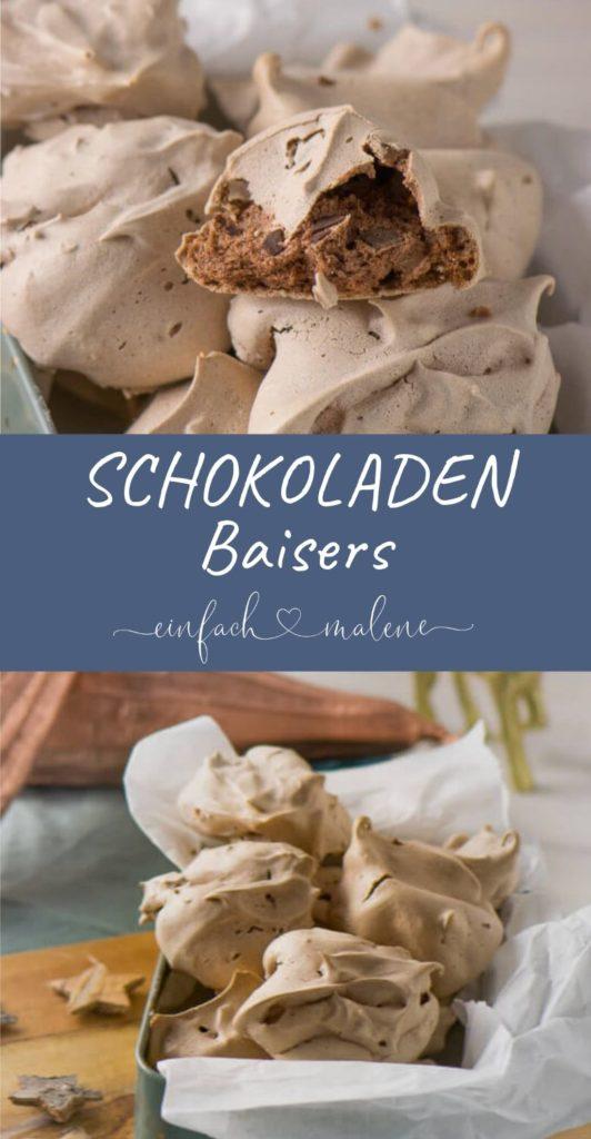 Die Schokoladen Baisers haben eine leichte Mokka Note und schmecken oberlecker. Sie sind super zart und sind von innen schokoladig cremig.