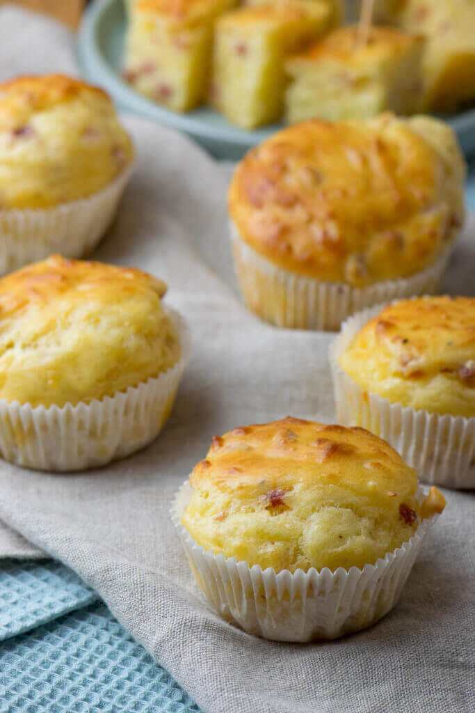 Mega leckere Muffins - herzhaft mit Käse und Schinken