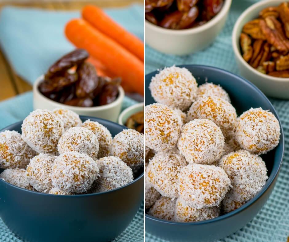 Carrotcake Energyballs - gesunder Snack für die ganze Familie - Einfach Malene
