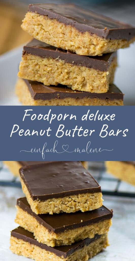 Peanut Butter Bars sind echtes Soulfood. Einmal probiert, kann man nie wieder aufhören sie zu essen. Diese selbstgemachten Peanutbutter Cups machen süchtig! Das Rezept ist super einfach und du benötigst tatsächlich nur 5 Zutaten!