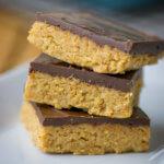 Knaller Rezept für Peanutbutter Bars mit nur 5 Zutaten