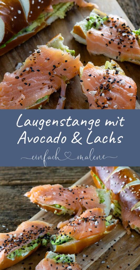Laugenstange mit Lachs & Avocado - mein perfekter Snack als stillende Mutter. Als stillende Mutter muss es meist schnell gehen, aber schmecken soll es auch. Gesunde Fette von Lachs und Avocado passen perfekt in die Ernährung.