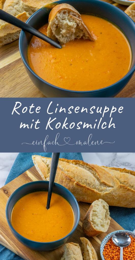 Diese Rote Linsen Suppe ist der Knaller - mit Kokosmilch, Paprika & Curry. Rote Linsen Suppe mit Kokosmilch, Paprika, Curry & Chili - schmeckt am besten leicht scharf mit etwas frischem Brot.