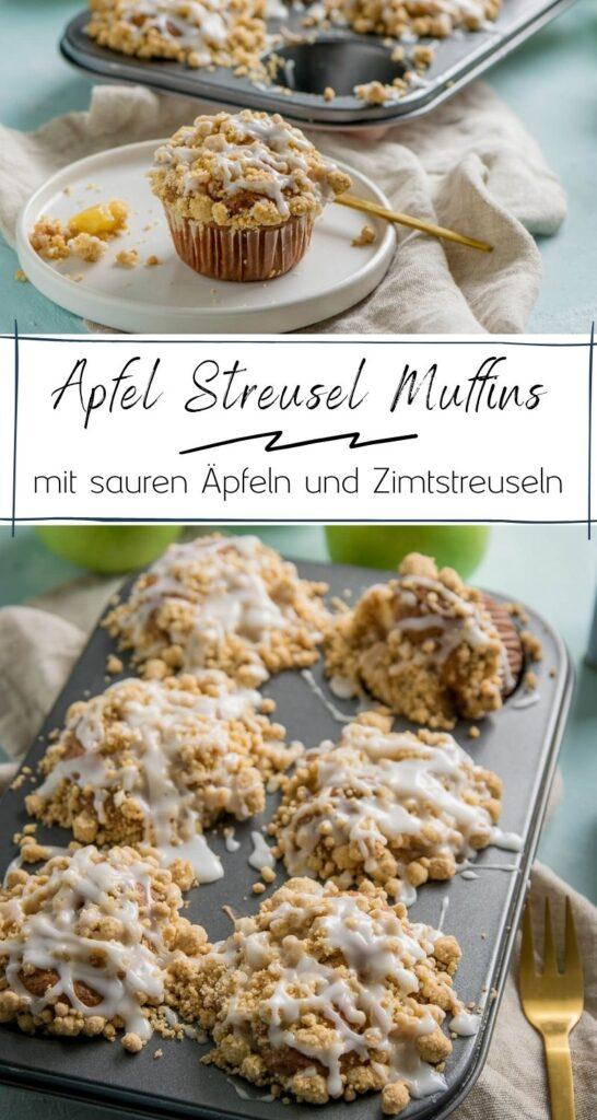 Die saftigsten Apfel Streusel Muffins aller Zeiten - mit extra viel Zimt. Apfelkuchen in Muffinform - perfekt in der Hand und genau so lecker wie Apfel Streusel Kuchen. Viel Zimt und fluffiger Teig machen das Rezept perfekt! #herbst #apfelkuchen #kuchenrezepte