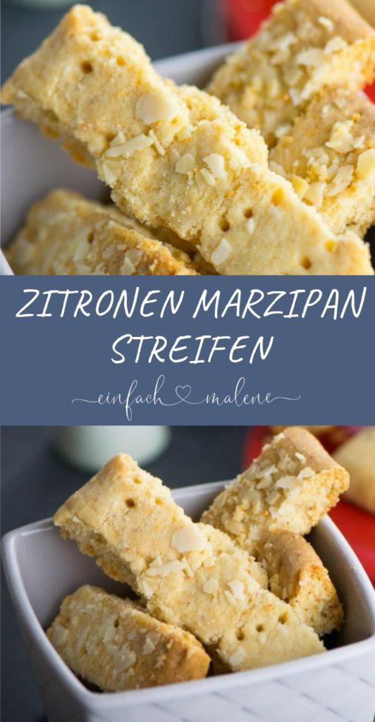 Diese Zitronen Marzipan Streifen - auch Marzipan Shortbread genannt - schmecken absolut köstlich. Das perfekte Weihnachtskeks-Rezept für die ganze Familie.