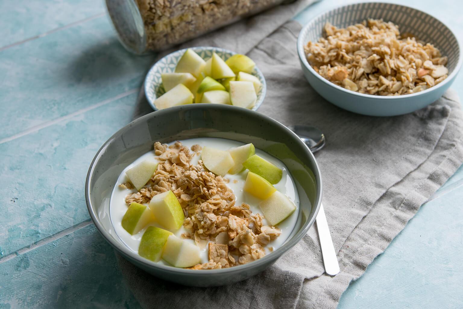Apfel Zimt Knuspermüsli - gesund & lecker frühstücken