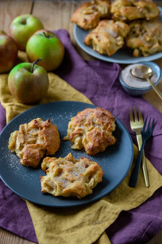 Fluffige Apfel Zimt Taler