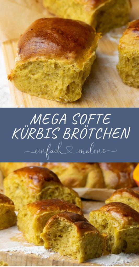 Super softe Kürbisbrötchen für die ganze Familie. Diese Kürbissofties sind zum Knautschen - ja du hast richtig gelesen! Sie werden unglaublich fluffig und schmecken mit Kürbis und Pumpkin Spice göttlich!